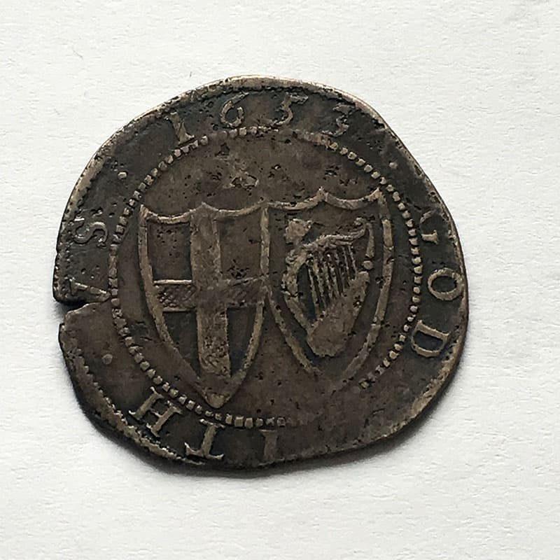 Hammered Shilling 1653