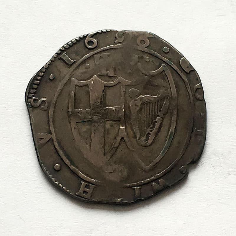 Hammered Halfcrown 1656