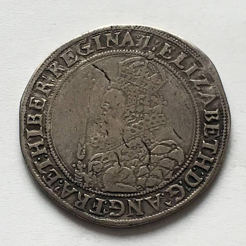 Hammered Halfcrown Elizabeth I
