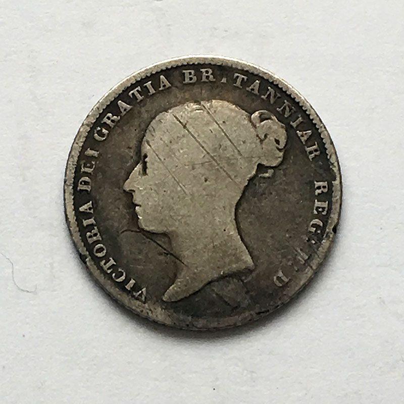 Sixpence 1854