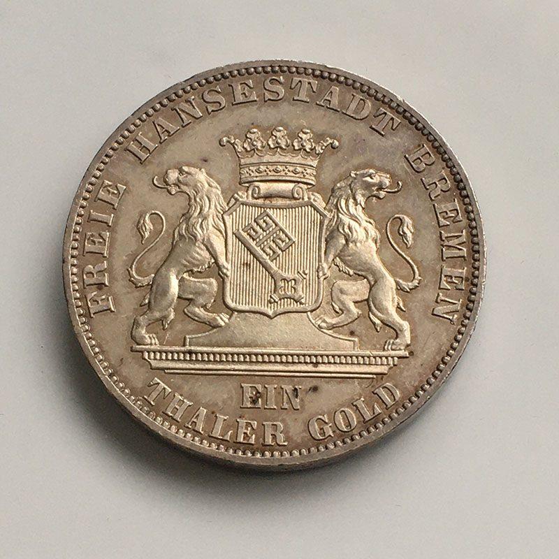 German states Bremen Thaler 1865