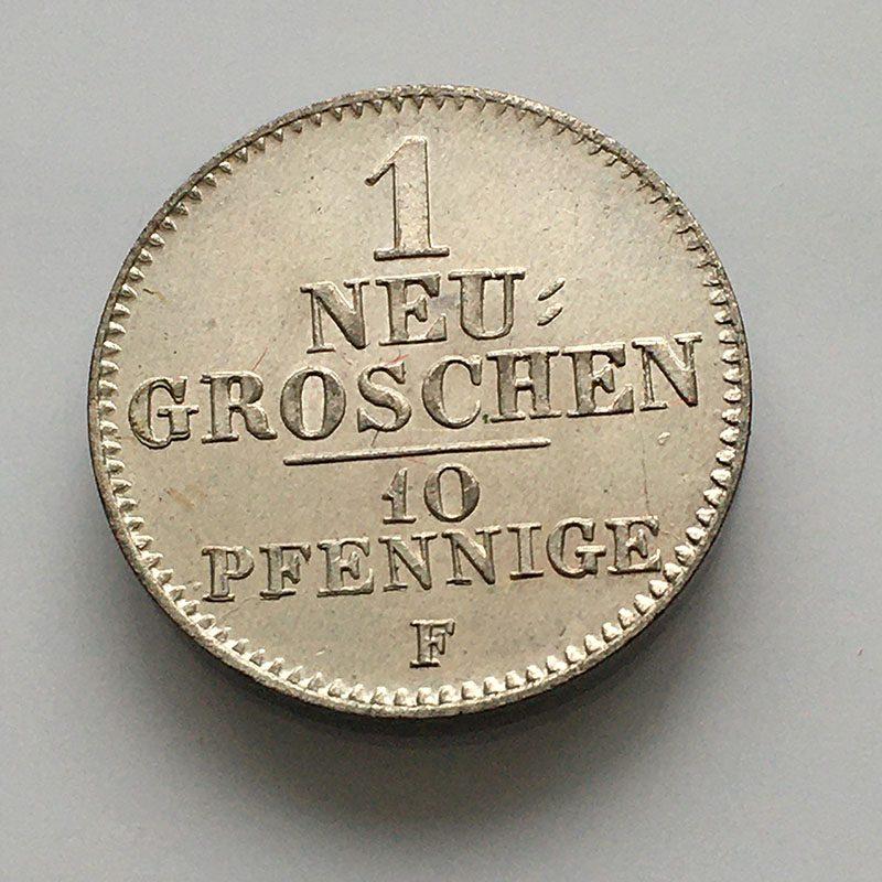 German states Saxony Neu Groschen 1846