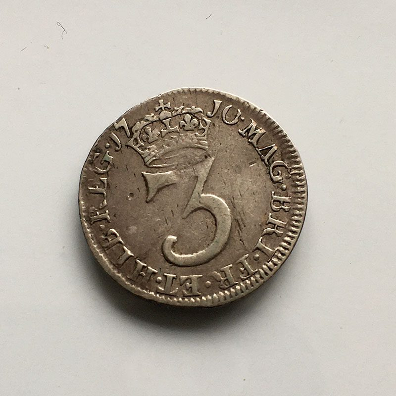 Maundy 3 Pence 1710