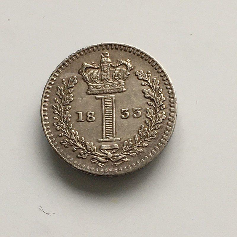 Maundy 1 Penny 1833