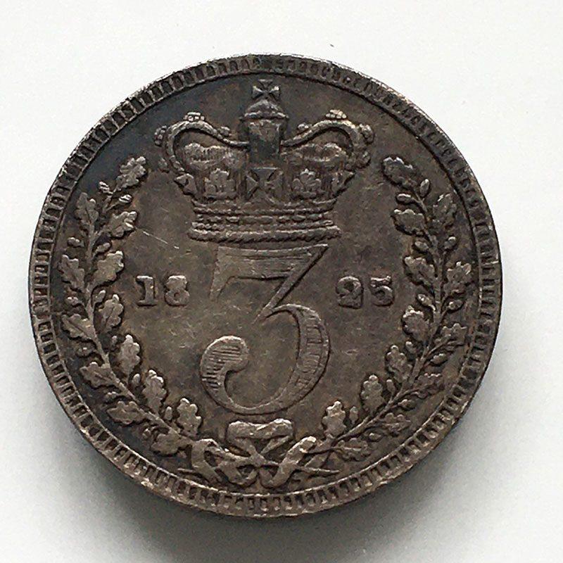 Maundy 3 Pence 1825