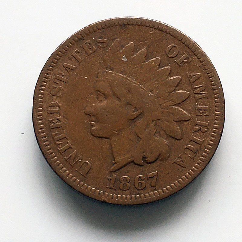 USA Cent 1867