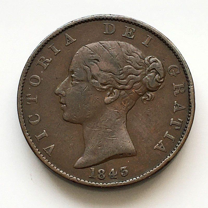 Halfpenny 1843