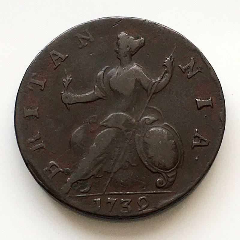 Halfpenny 1739