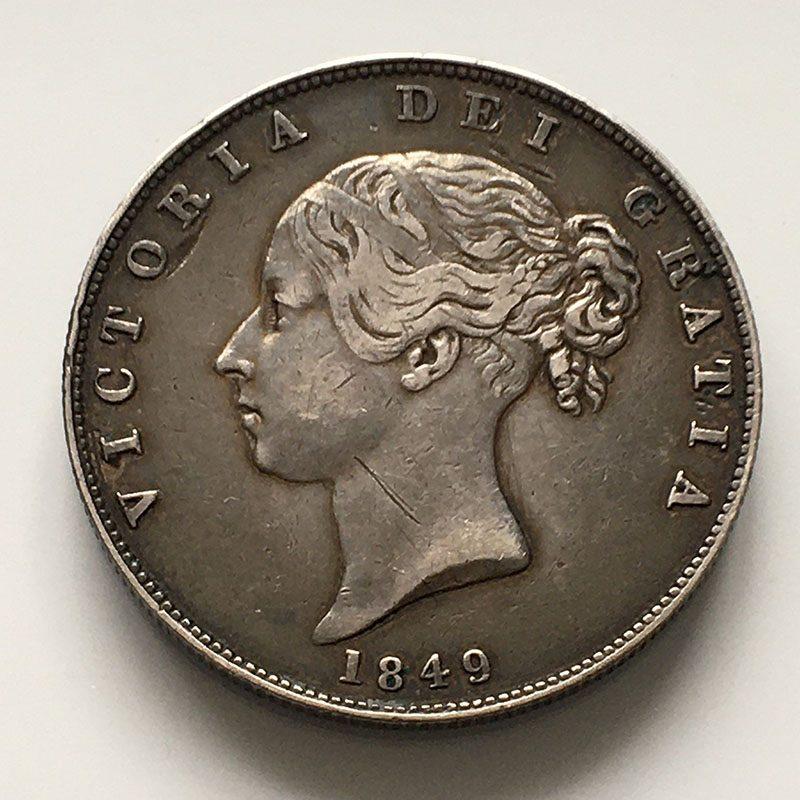 Halfcrown 1849