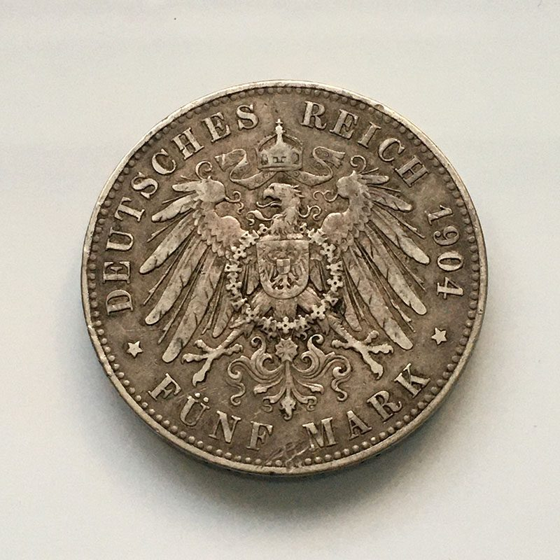 German states Prussia 5 Mark 1904