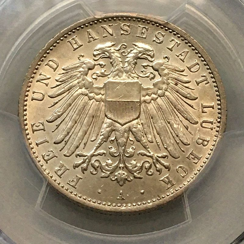German states Lubeck 2 Mark 1911