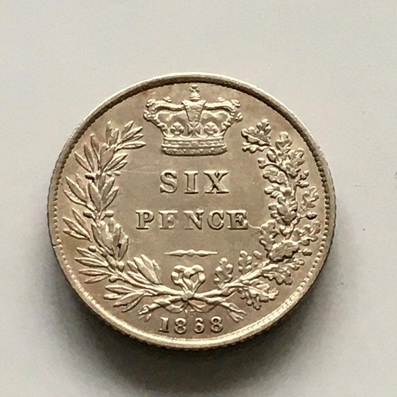 Sixpence 1868