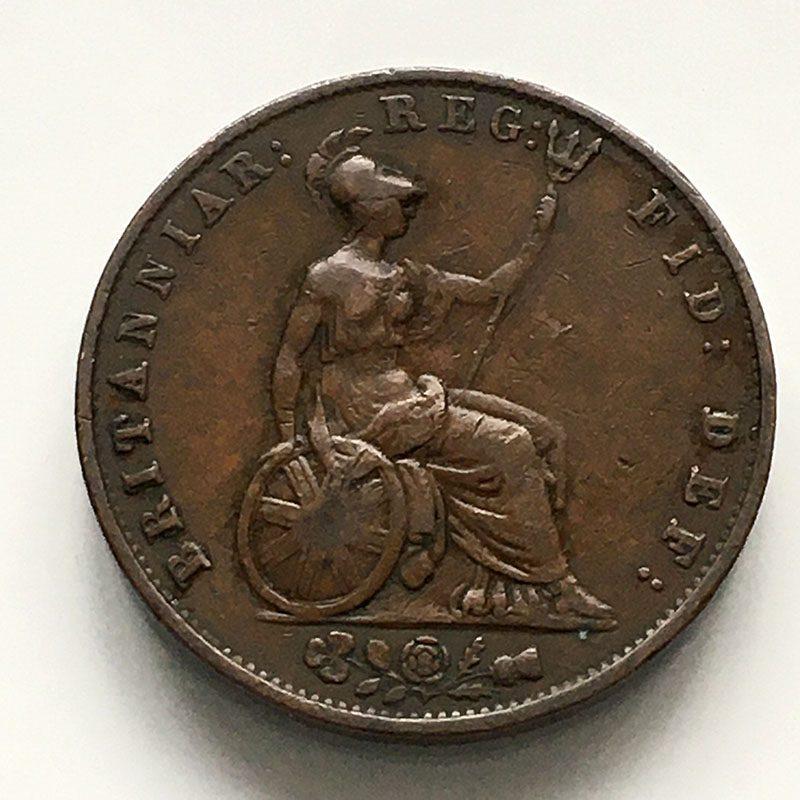 Halfpenny 1845