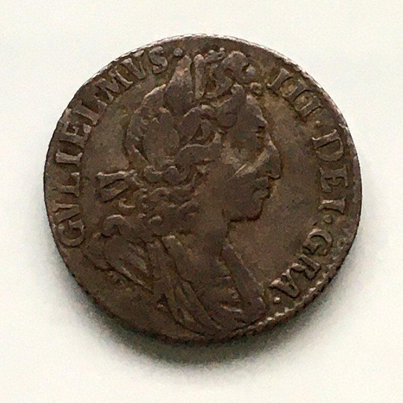 Sixpence 1698