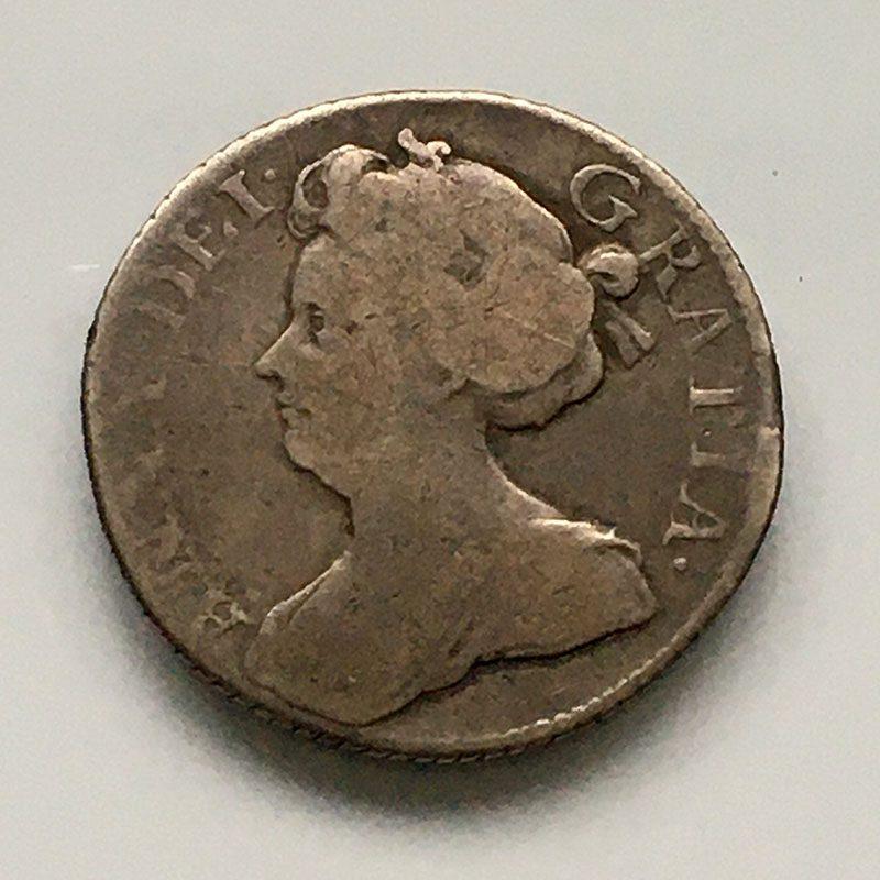 Sixpence 1710