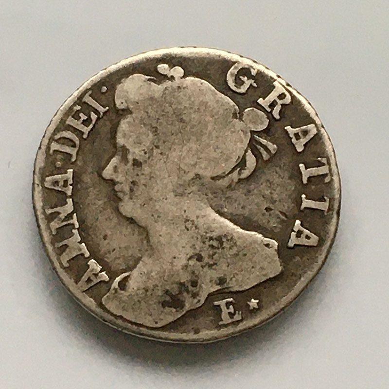 Sixpence 1708
