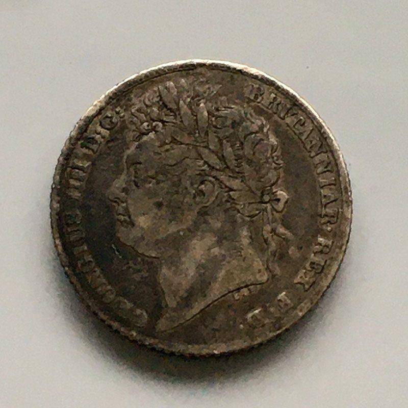 Sixpence 1826
