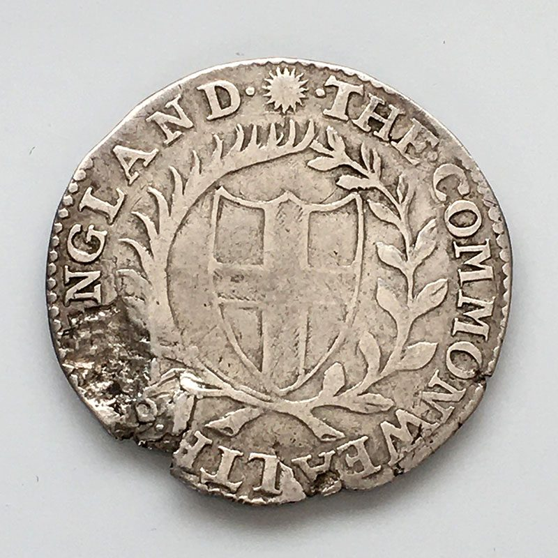 Hammered Sixpence 1649