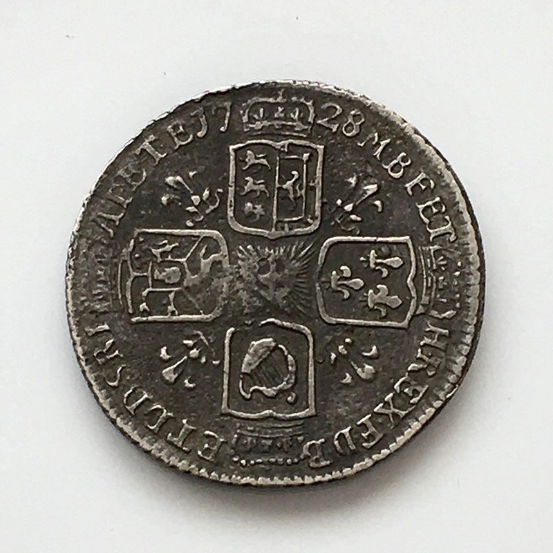 Sixpence 1728