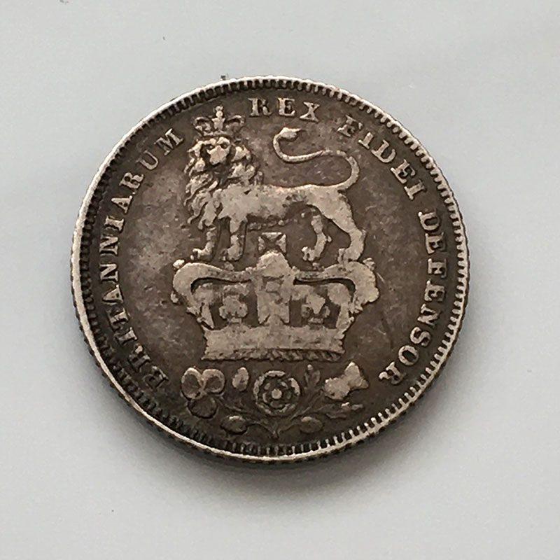 Sixpence 1827