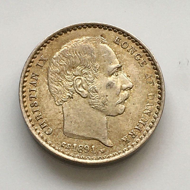 Denmark 25 Ore 1891