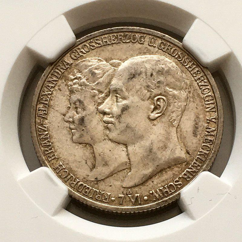 German states Mecklenburg 2 Mark 1904