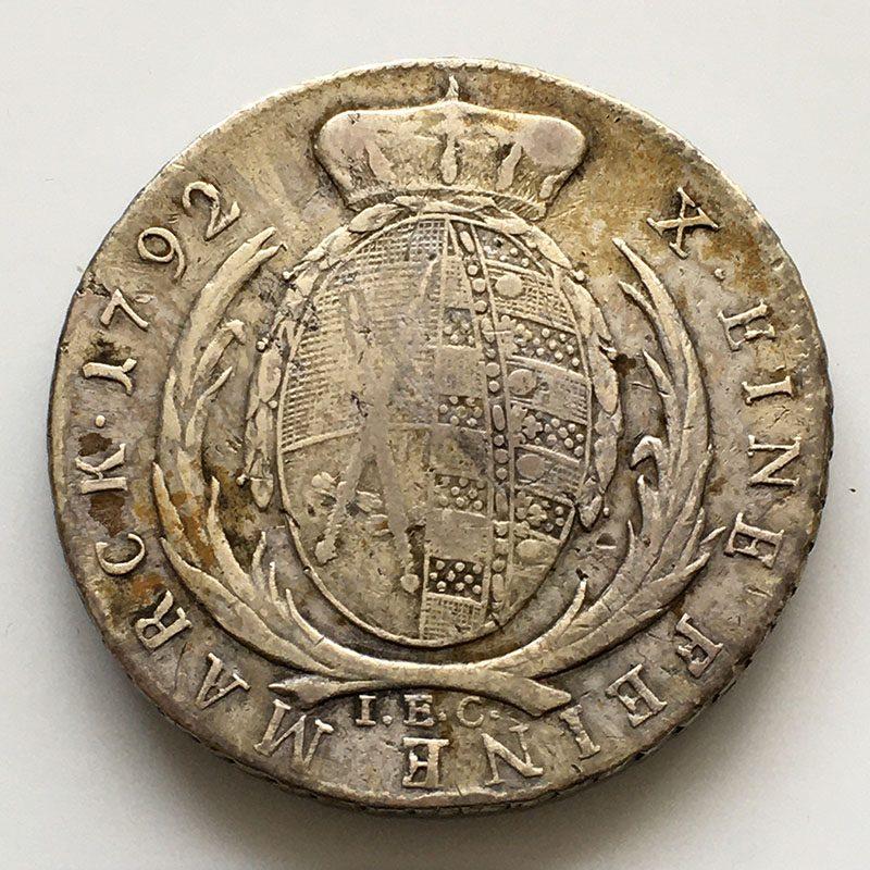 German States Saxony Thaler 1792