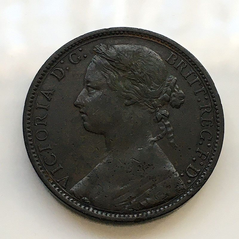 Penny 1875 H