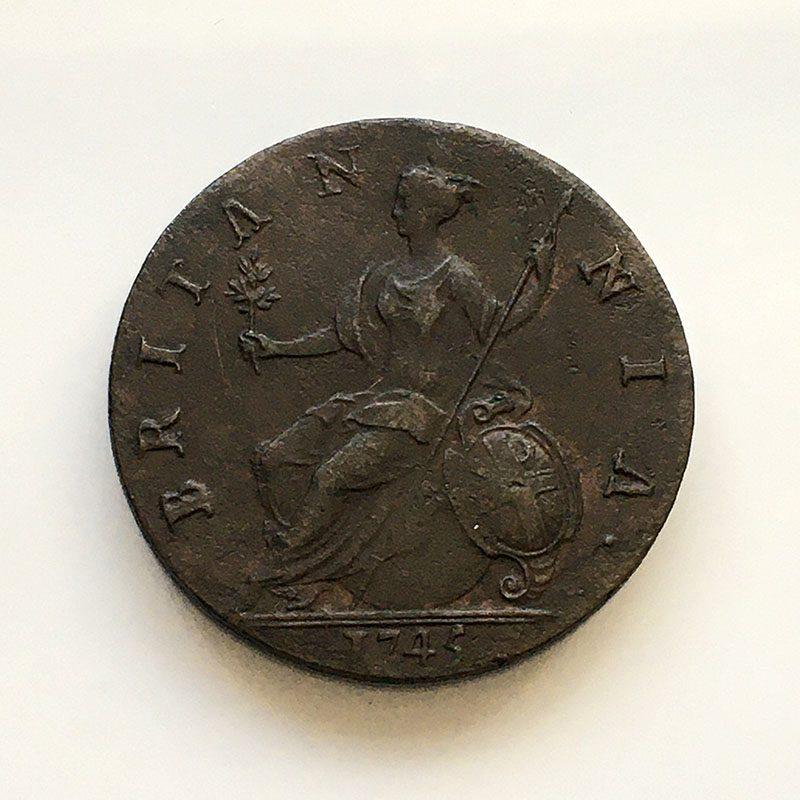 Halfpenny 1745