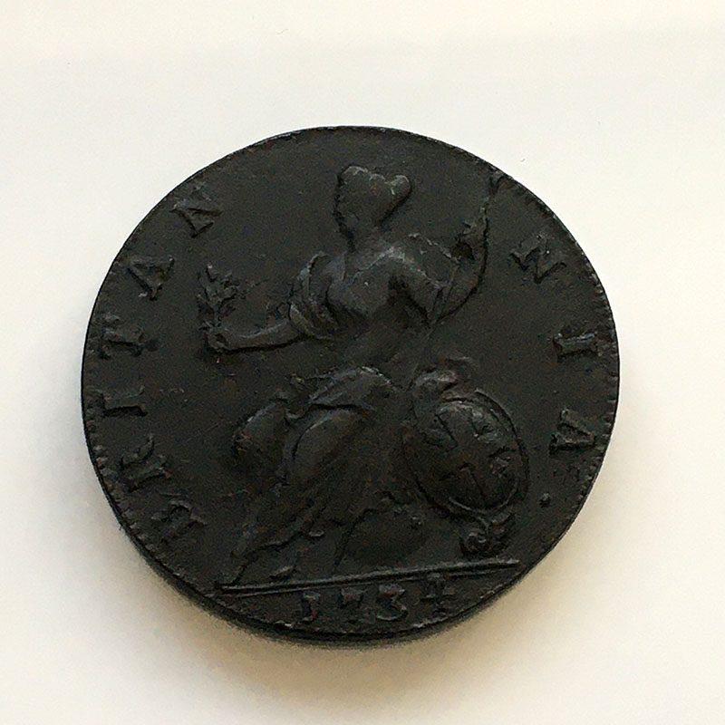 Halfpenny 1734