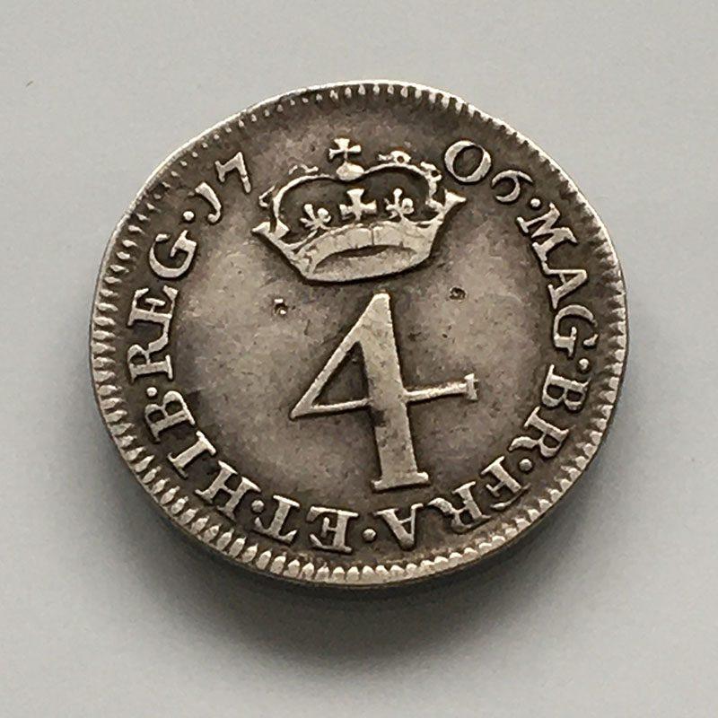Maundy 4 Pence 1706