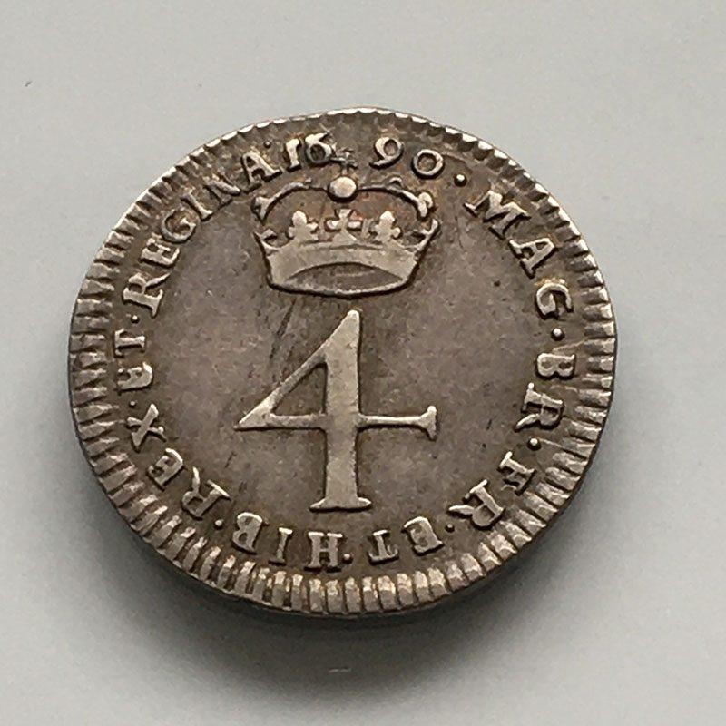 Maundy 4 Pence 1690