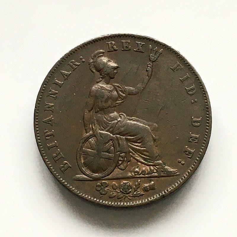 Halfpenny 1826