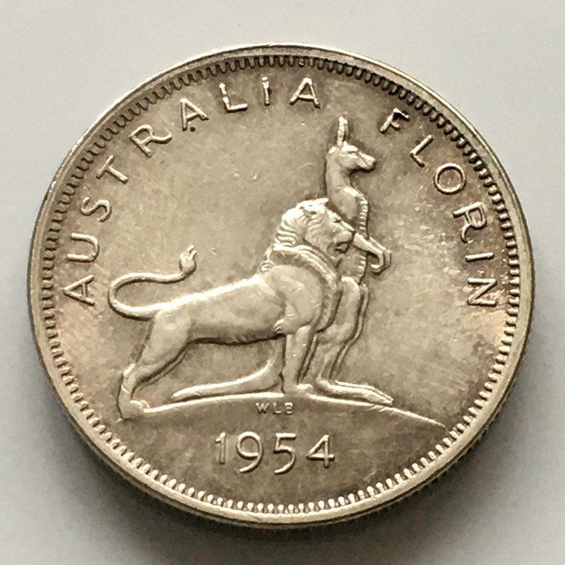 Australia Florin 1954