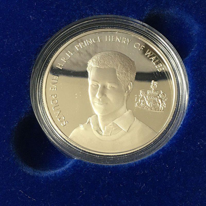 Alderney Five Pounds 2005 Silver