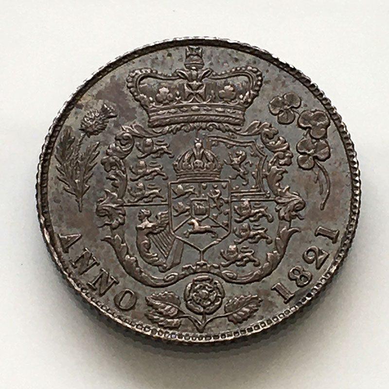 Sixpence 1821