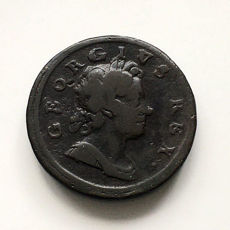 Halfpenny 1718