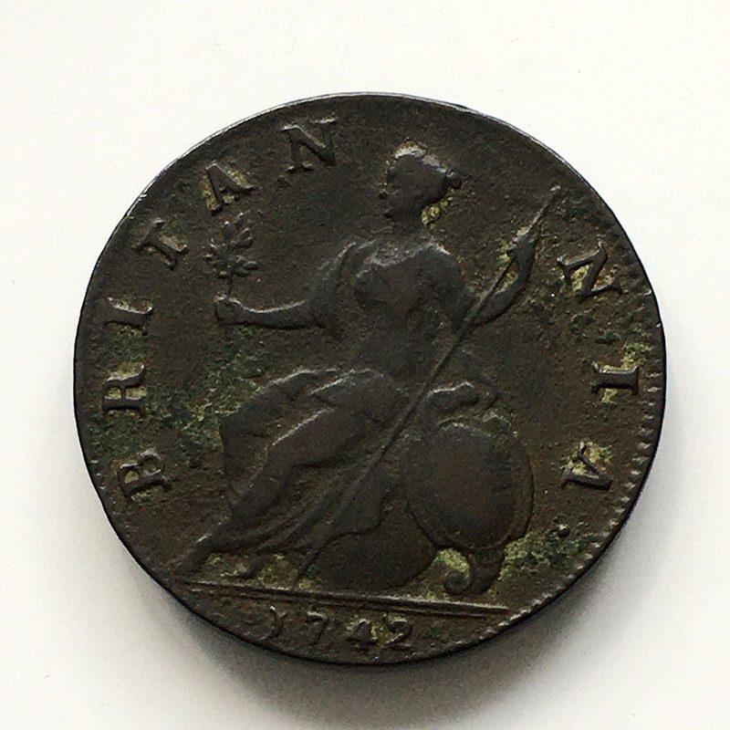 Halfpenny 1742