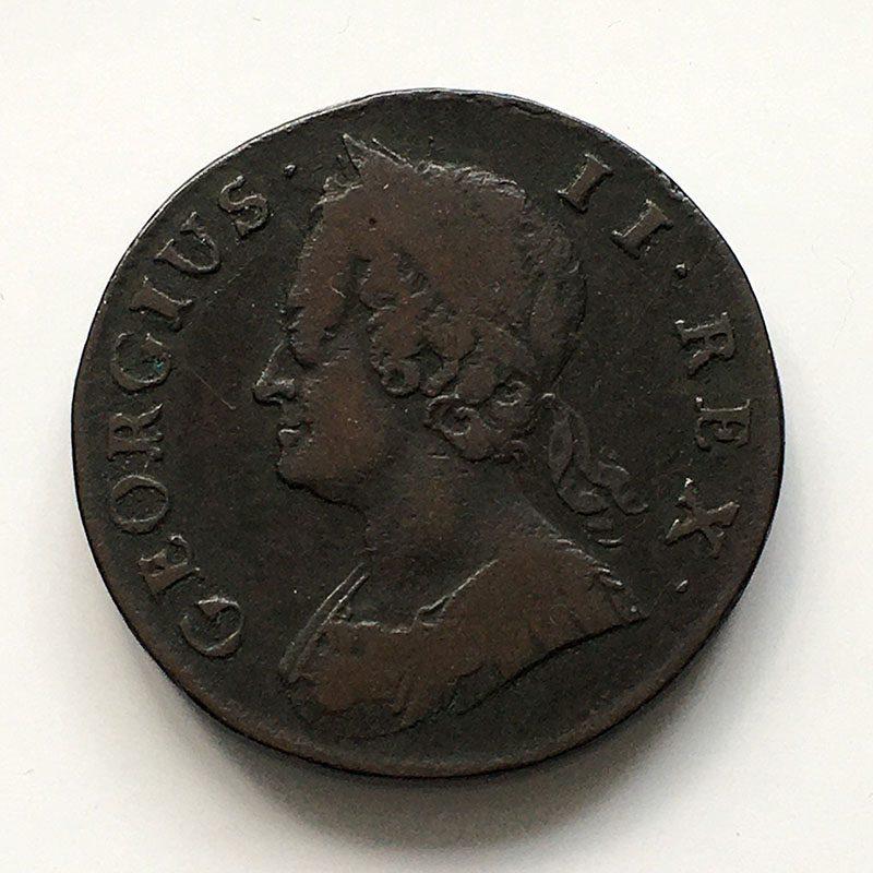 Halfpenny 1744