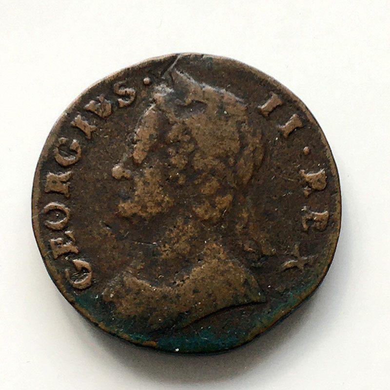Halfpenny 1747