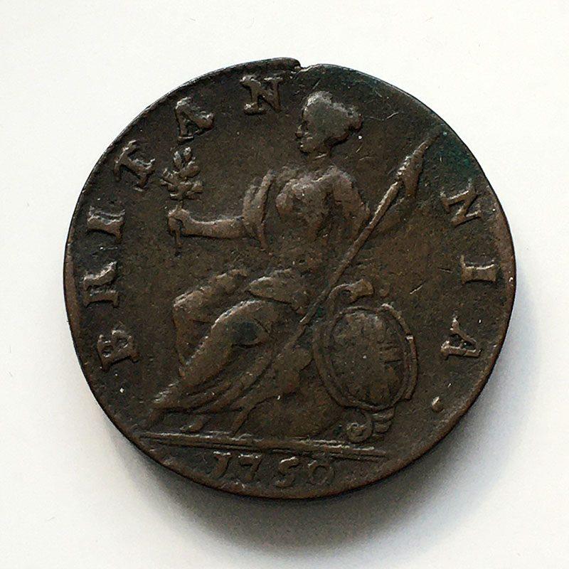 Halfpenny 1750