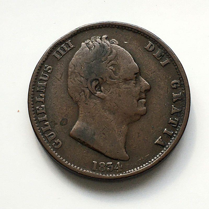 Halfpenny 1834